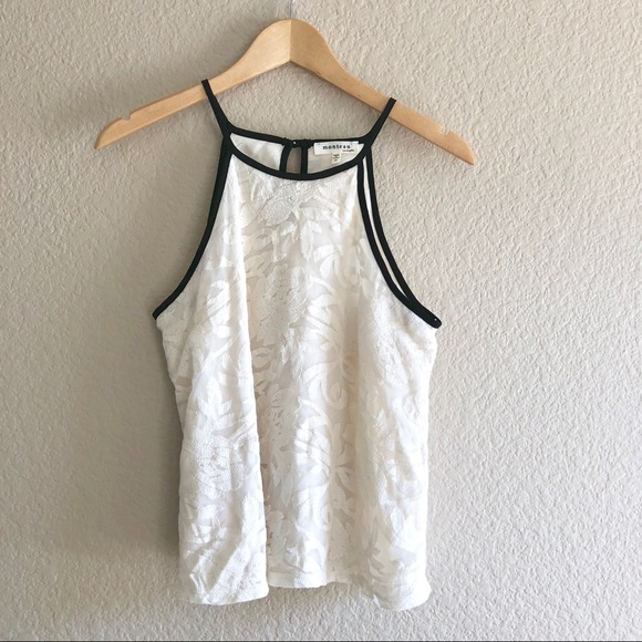 e765987888 Monteau White Lace Halter Tank Top in Small. M_5ae8e66a6bf5a699be6b2916